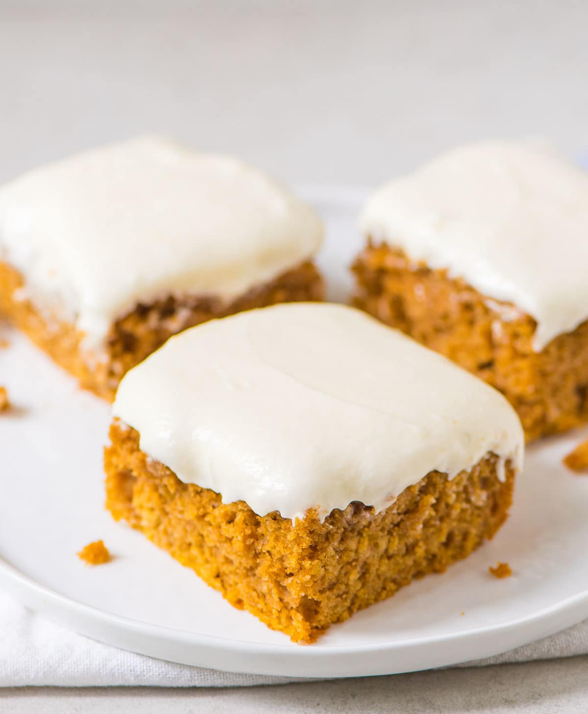 Pumpkin Sheet Cake  Pumpkin Sheet Cake with Fluffy Cream Cheese Frosting