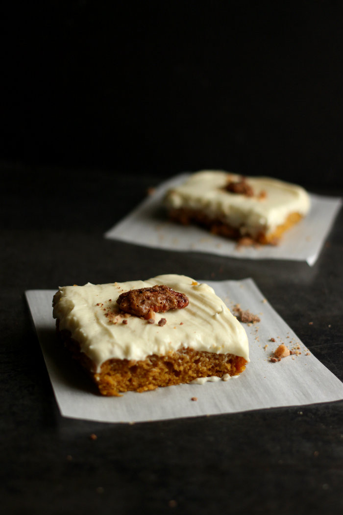 Pumpkin Sheet Cake  Pumpkin Sheet Cake with White Chocolate Cream Cheese