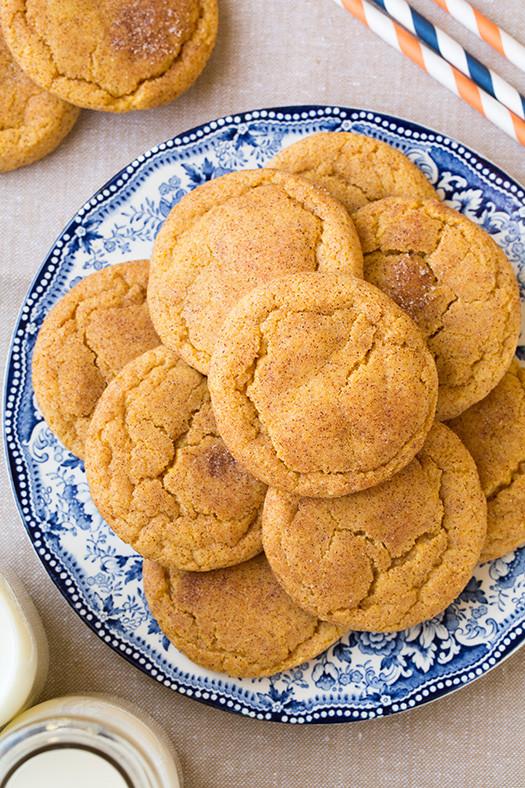 Pumpkin Snickerdoodle Cookies  14 Thanksgiving Desserts That Aren't Pumpkin Pie