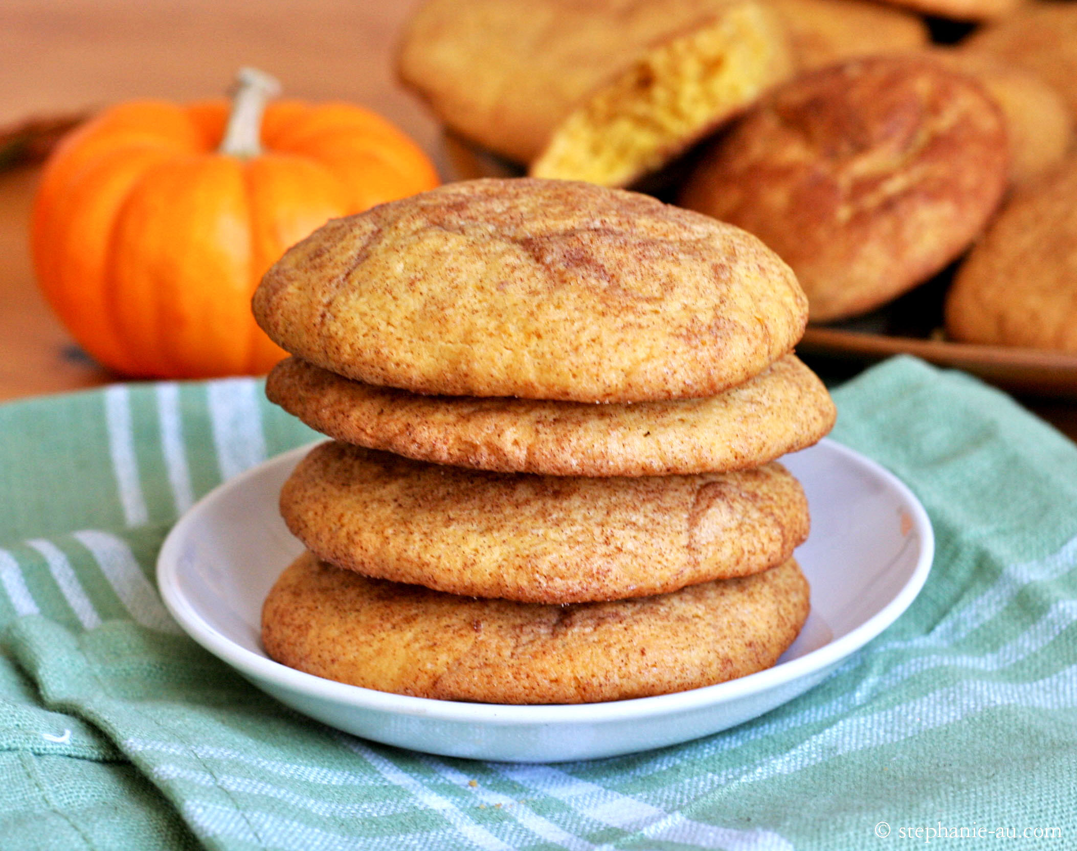Pumpkin Snickerdoodle Cookies  Pumpkin Snickerdoodles and a Fall Giveaway