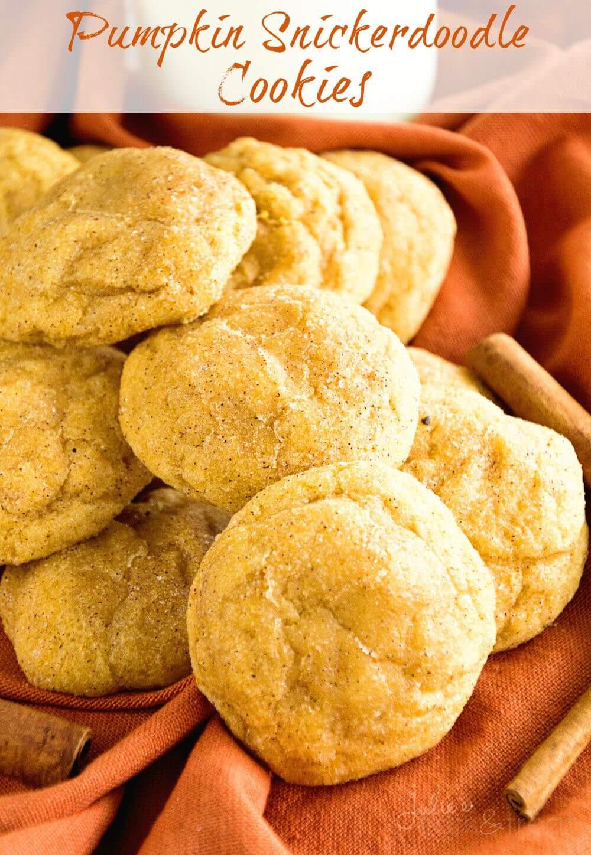 Pumpkin Snickerdoodle Cookies  Pumpkin Snickerdoodle Cookies Julie s Eats & Treats