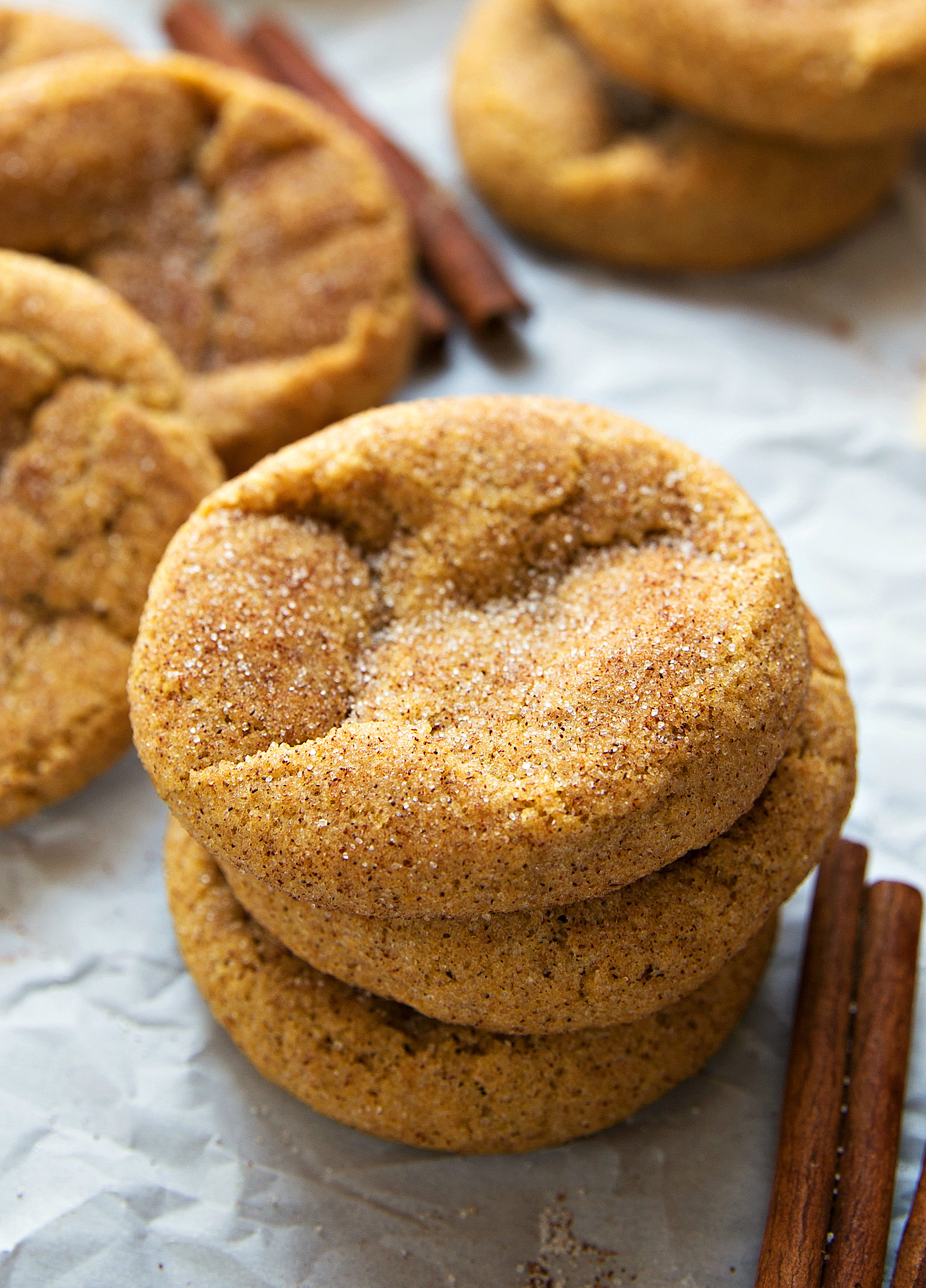 Pumpkin Snickerdoodle Cookies  Soft and chewy pumpkin snickerdoodle cookies