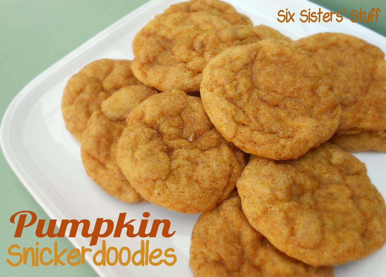 Pumpkin Snickerdoodle Cookies  Pumpkin Snickerdoodle Cookies – Six Sisters Stuff