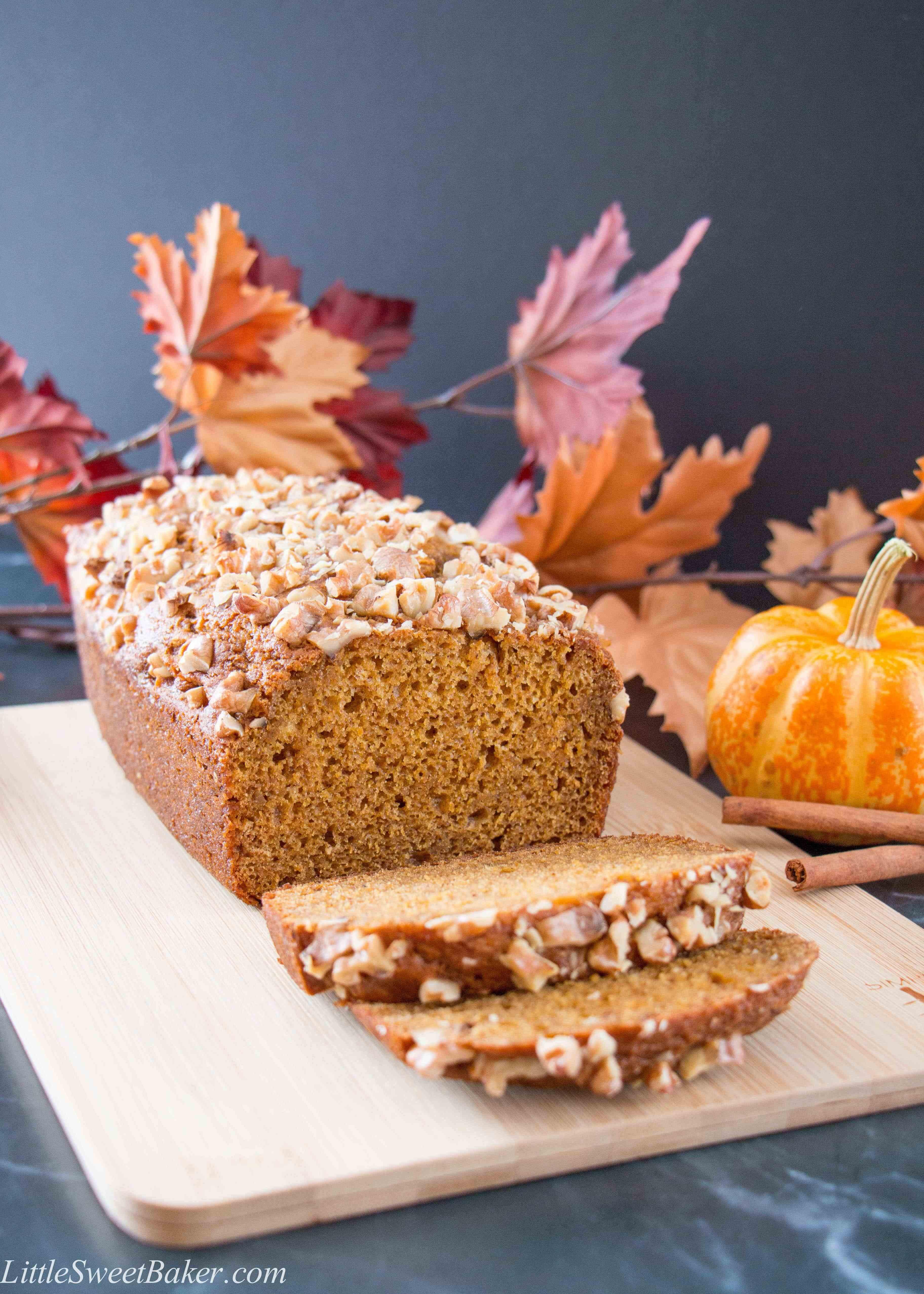 Pumpkin Spice Bread  Healthier Pumpkin Bread video Little Sweet Baker