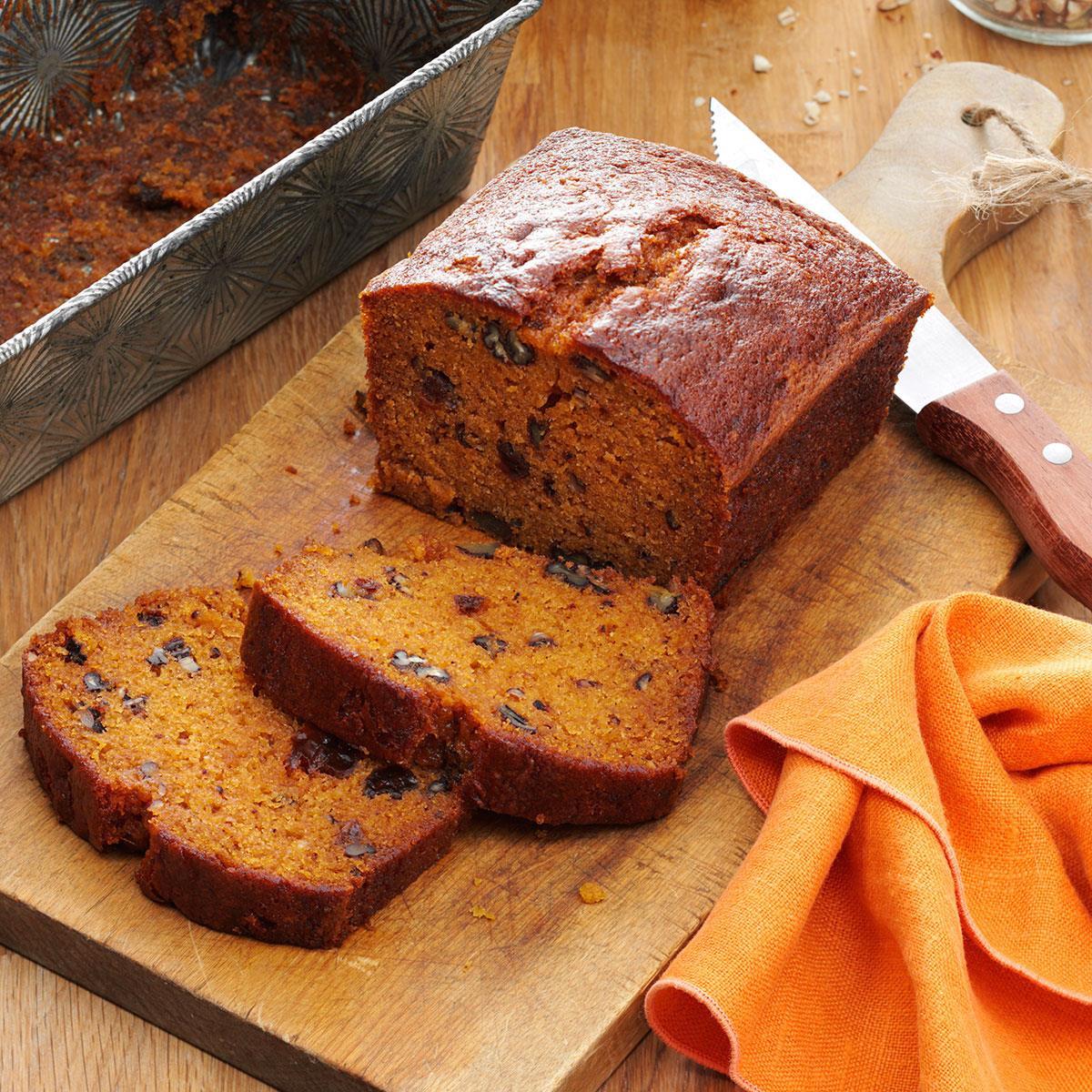Pumpkin Spice Bread  Raisin Filled Pumpkin Spice Bread Recipe