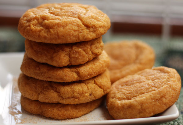 Pumpkin Spice Cookies  pumpkin spice snickerdoodles Table for Two by Julie Wampler