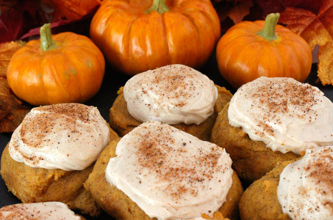 Pumpkin Spice Cookies  Pumpkin Spice Cookies with Cinnamon Cream Cheese Frosting