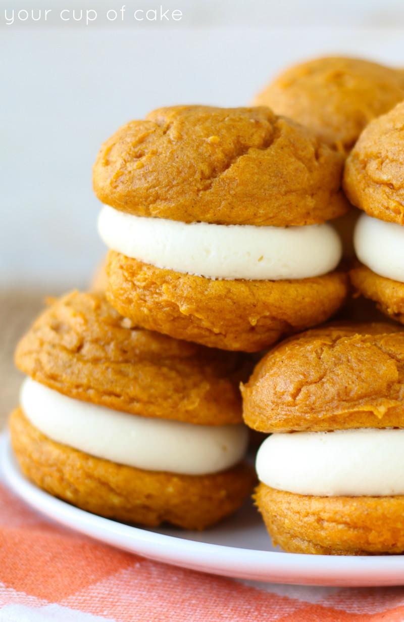 Pumpkin Whoopie Pies  5 Ingre nt Pumpkin Cheesecake Whoopie Pies Your Cup of