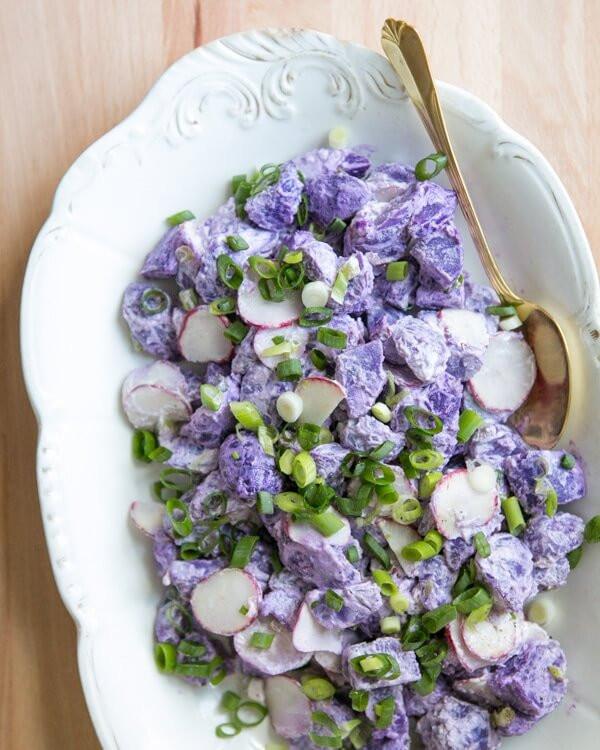 Purple Potato Recipe  Purple Potato Salad – A Couple Cooks