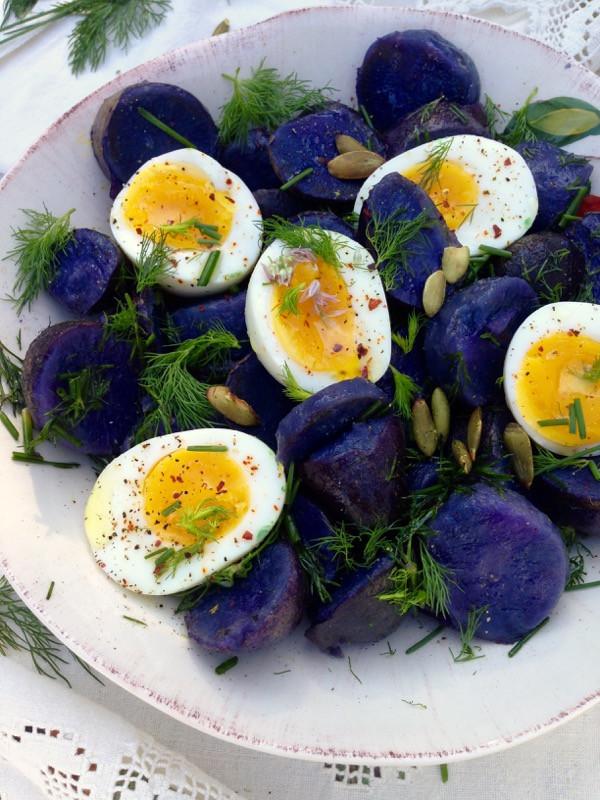 Purple Potato Recipe  Purple Potato Salad Recipe • CiaoFlorentina