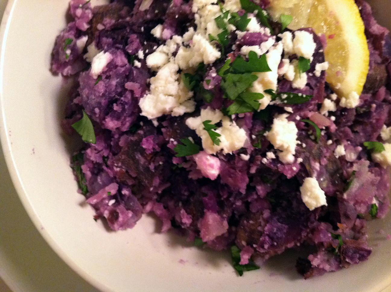 Purple Potato Recipe  Making Home Homemade Two Purple Potato Recipes