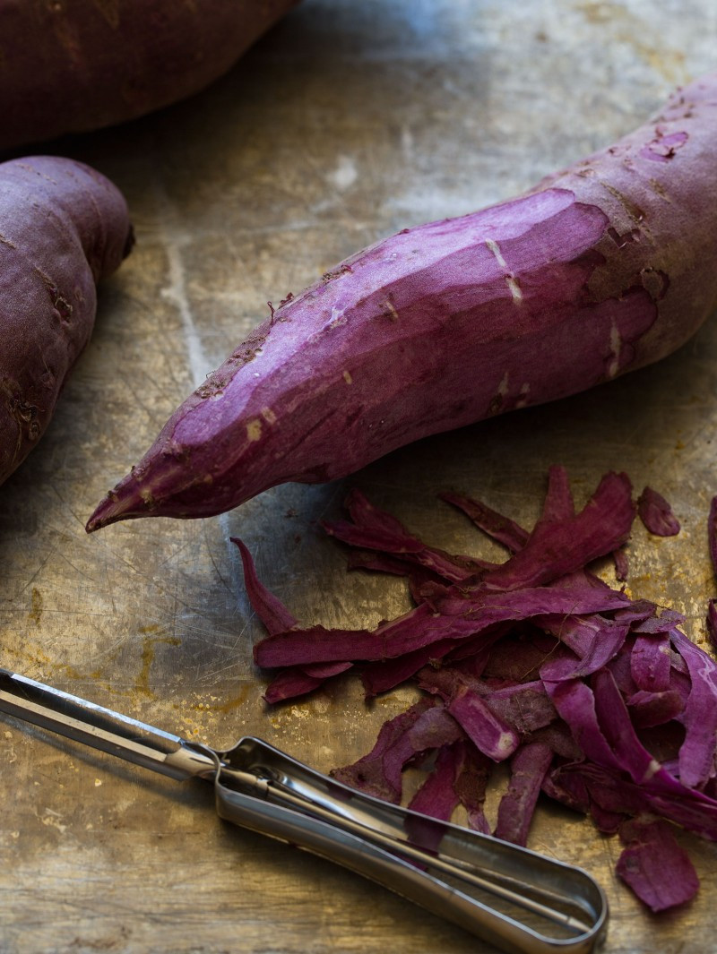 Purple Sweet Potato  Mashed Purple Sweet Potatoes Side dish recipe