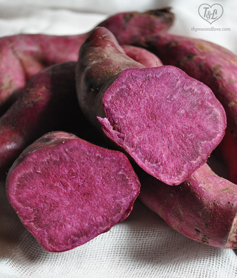 Purple Sweet Potato  Purple Sweet Potato Muffins Thyme & Love