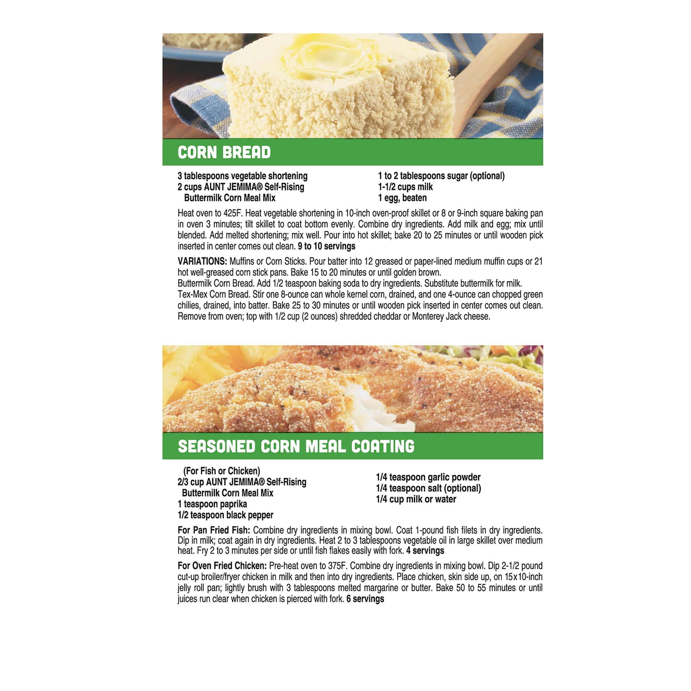 Quaker Cornbread Recipe  Quaker White Cornmeal Cornbread Recipe