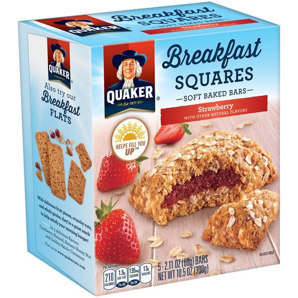 Quaker Oats Breakfast Bars  Quaker Breakfast Squares Strawberry Soft Baked Bars