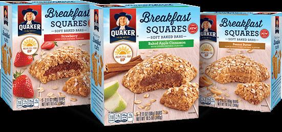 Quaker Oats Breakfast Bars  Snack Bars Breakfast Squares