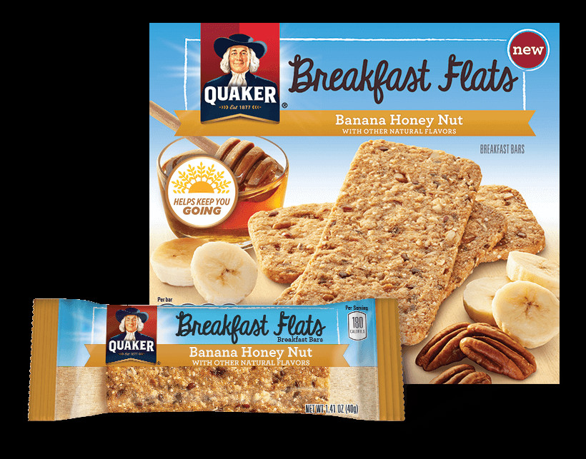 Quaker Oats Breakfast Bars  Product Snack Bars Quaker Breakfast Flats Banana Honey