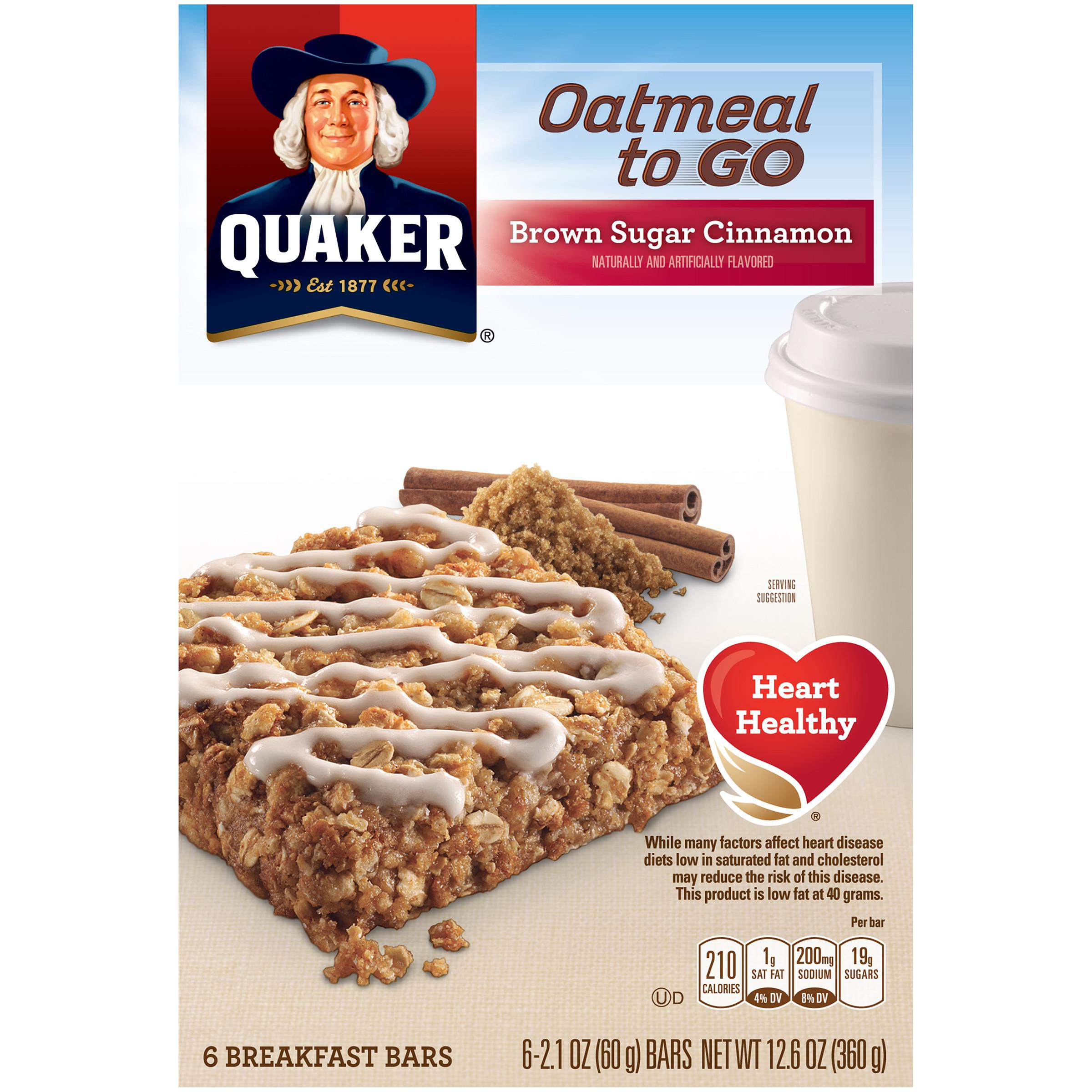 Quaker Oats Breakfast Bars  Quaker Brown Sugar Cinnamon Breakfast Bars Food