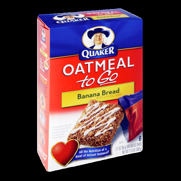 Quaker Oats Breakfast Bars  Quaker Oatmeal to Go Banana Bread Breakfast Bars Reviews