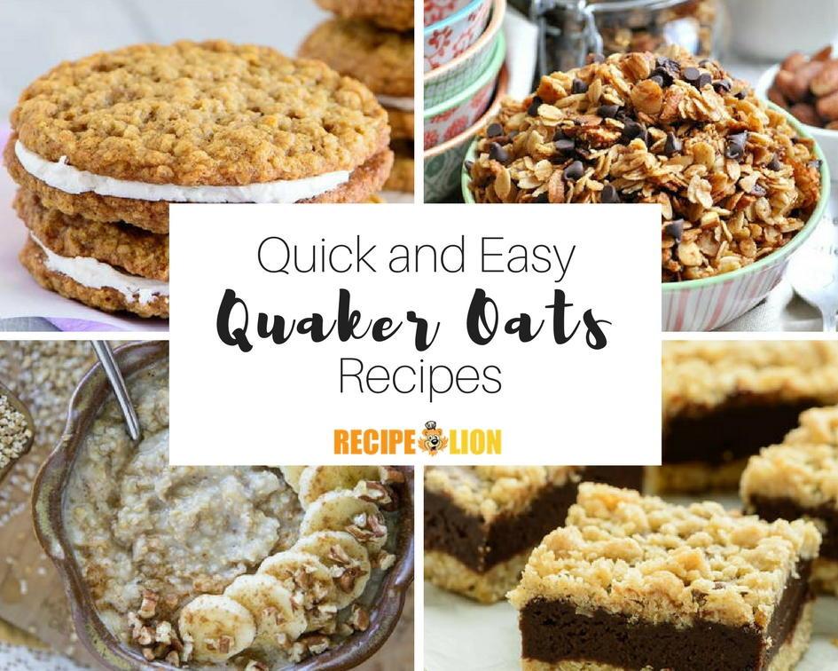 Quaker Oats Breakfast Recipes  quaker instant oatmeal recipes