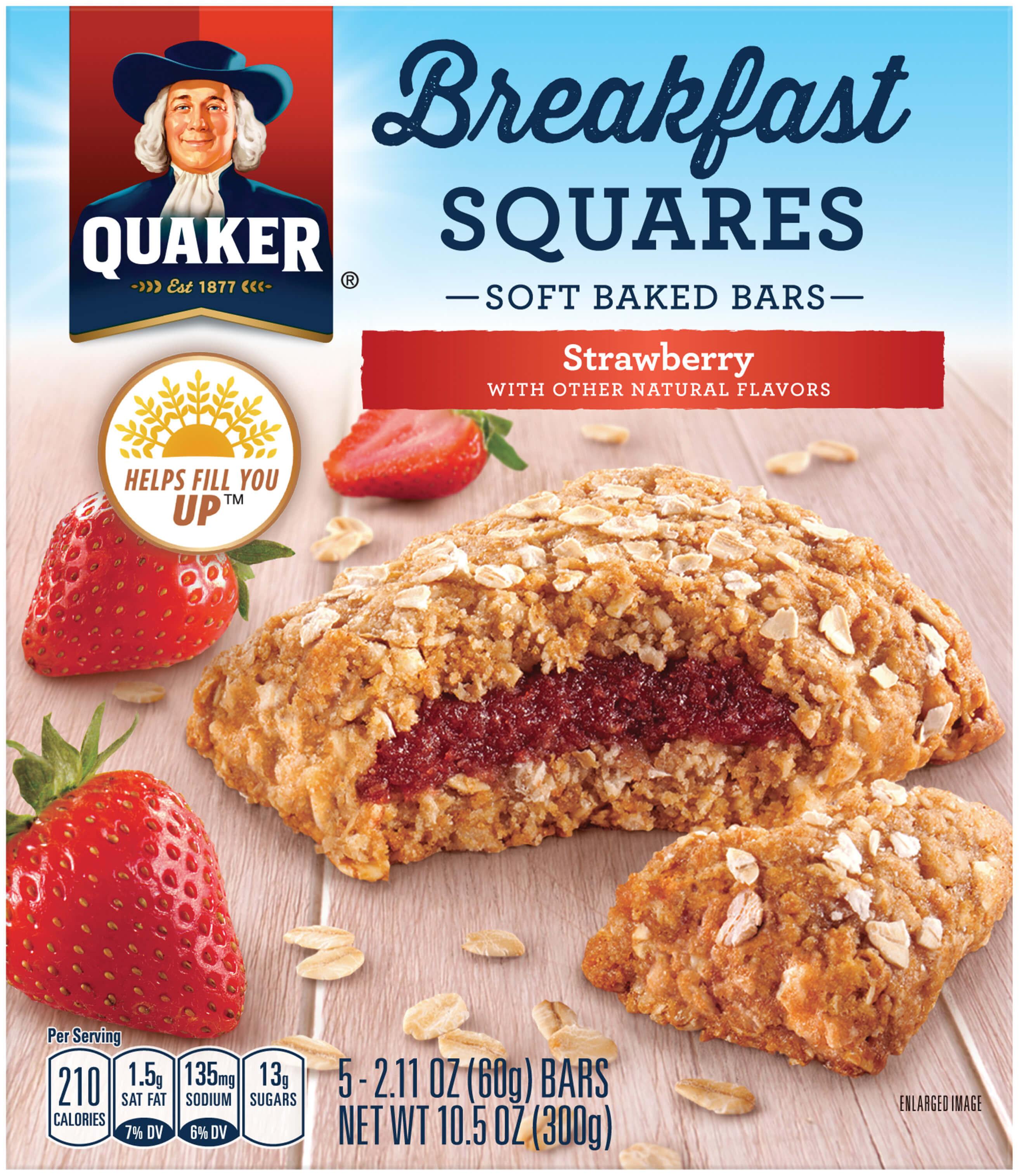 Quaker Oats Breakfast Recipes  Quaker Breakfast Squares Strawberry