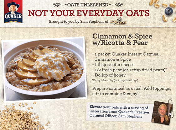 Quaker Oats Breakfast Recipes  Oatmazing Oatmeal