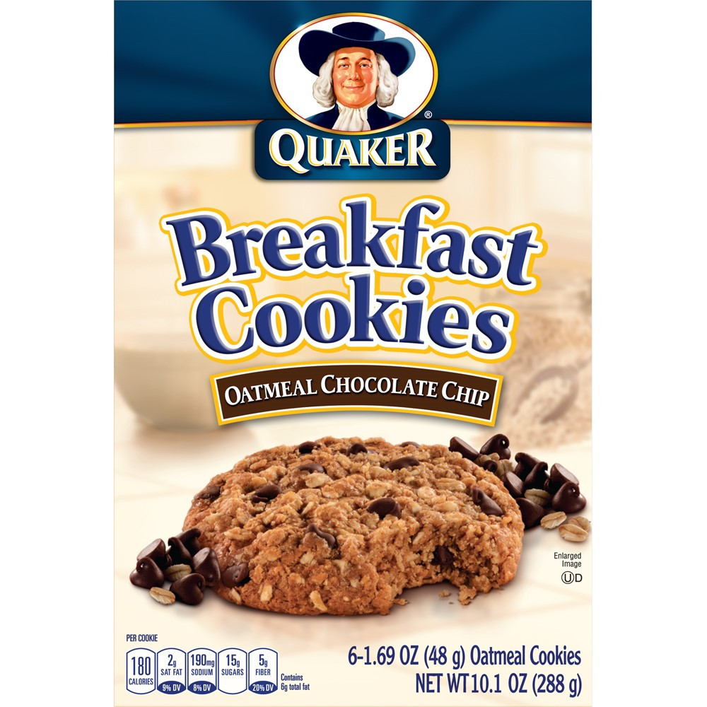 Quaker Oats Breakfast Recipes  Quaker Chewy Breakfast Cookies Oatmeal Chocolate Chip 6