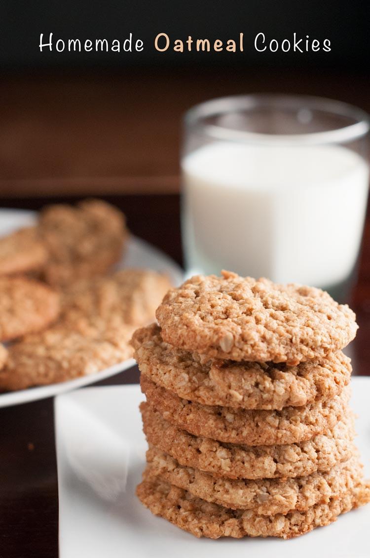 Quaker Oats Oatmeal Cookies  Easy Homemade Quaker Oats Oatmeal Cookies