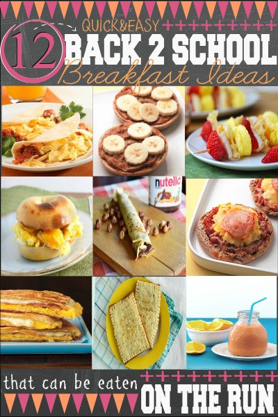 Quick And Easy Breakfast Ideas  School Lunch Planning Printables First Home Love Life