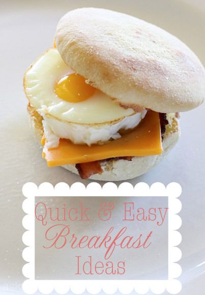 Quick And Easy Breakfast Ideas  Quick and easy breakfast ideas for on the go mornings keepitsimple eatgoodfood every day every