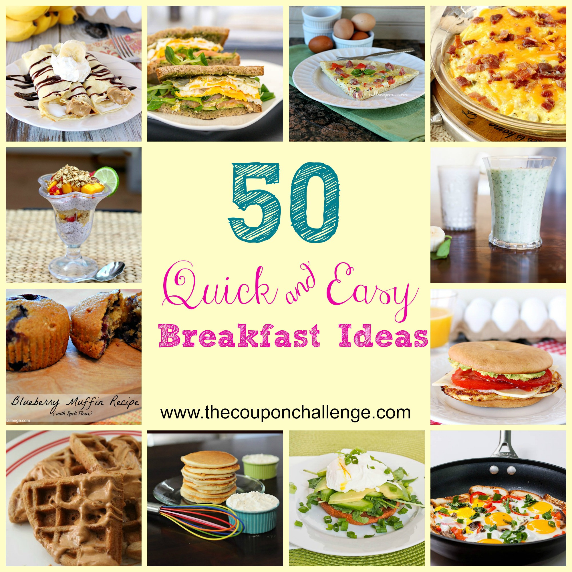 Quick And Easy Breakfast Ideas  Quick Easy Breakfast Ideas