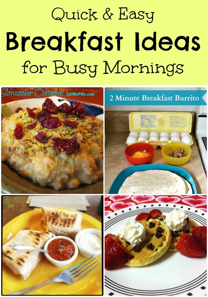 Quick And Easy Breakfast Ideas  Quick and Easy Breakfasts for Busy Mornings with Bonus Cheesy Breakfast Veggie Burrito Recipe