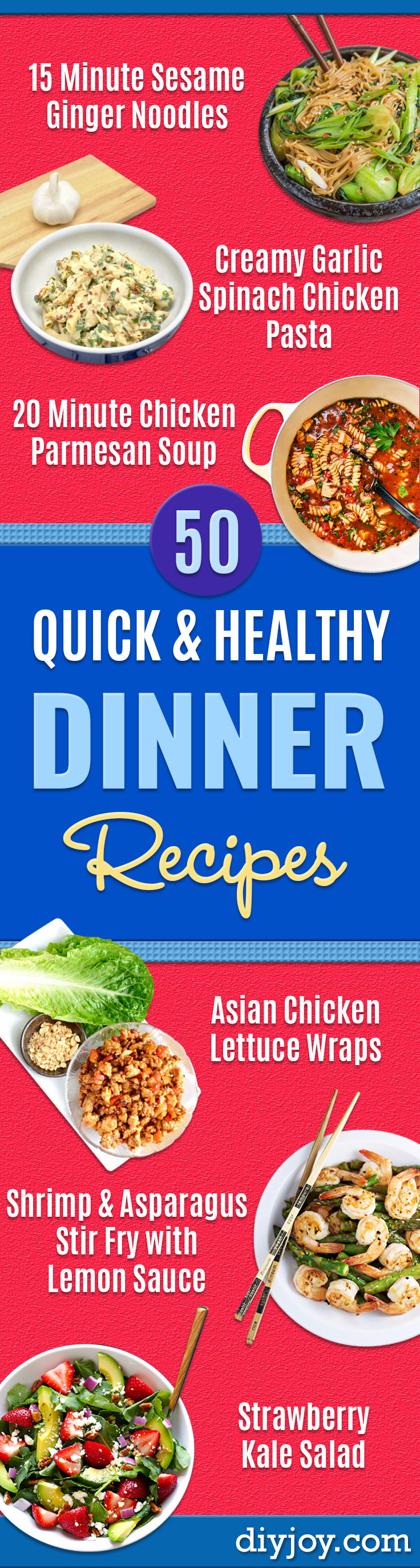 Quick And Healthy Dinner  50 Quick and Healthy Dinner Recipes Easy