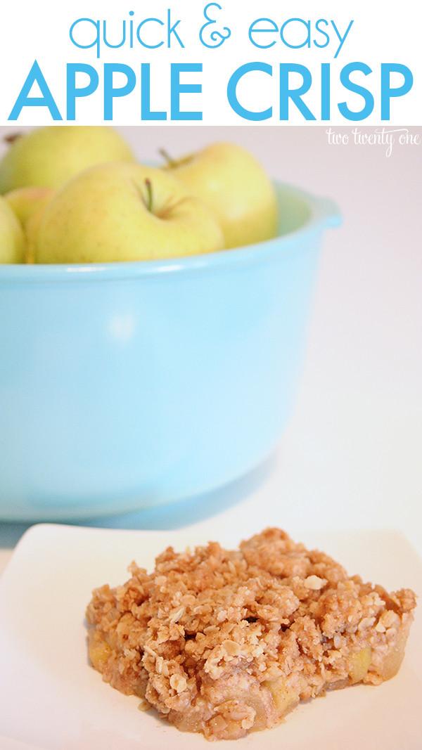 Quick Apple Dessert  Fall Favorite Apple Crisp