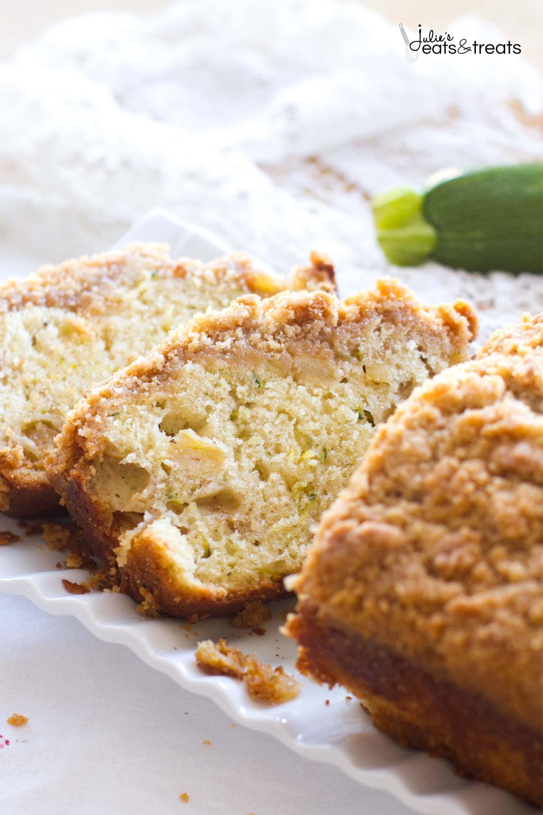 Quick Bread Recipe  Crumb Apple Zucchini Bread Julie s Eats & Treats