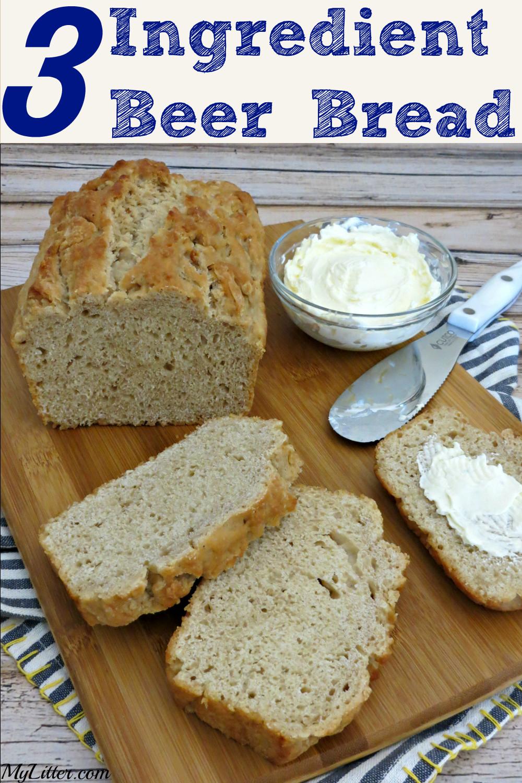 Quick Bread Recipes  3 Ingre nt Beer Bread