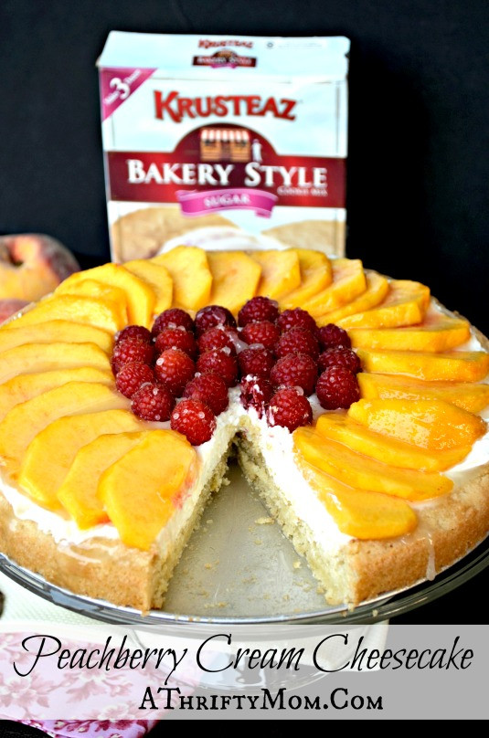 Quick Cheesecake Recipe  Peach Berry Cream Cheesecake Recipe Krusteaz Bakery Style