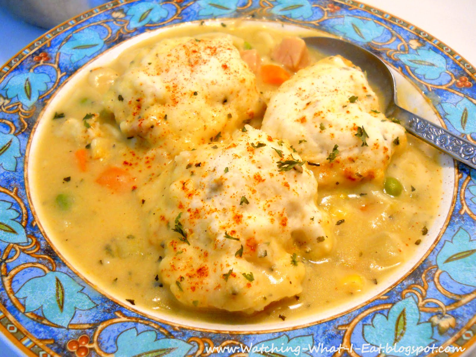 Quick Chicken And Dumplings  Watching What I Eat Easy Chicken and Dumplings