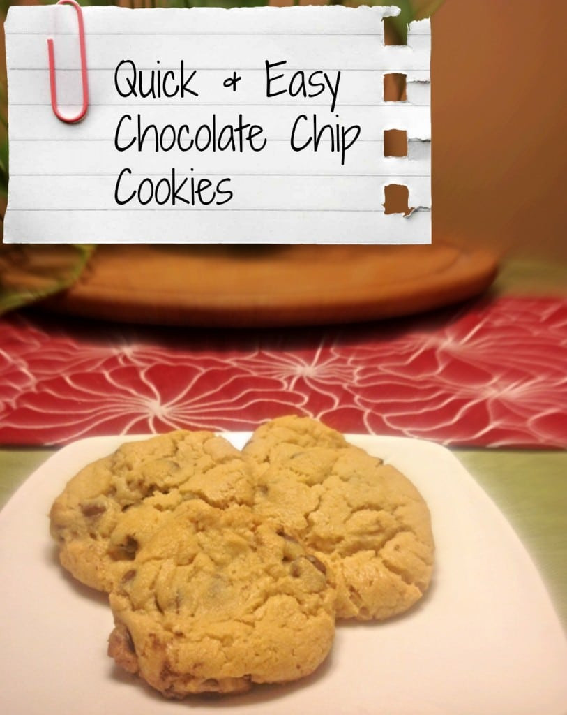 Quick Chocolate Chip Cookies  Quick and Easy Chocolate Chip Cookies Coffee With Us 3