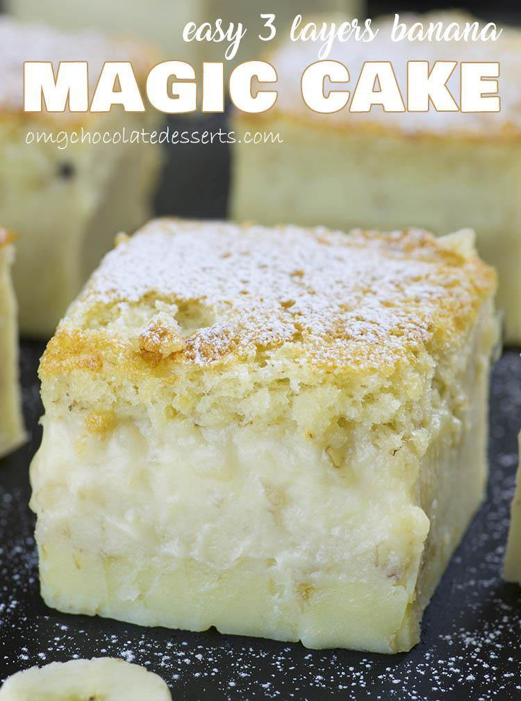 Quick Desserts Recipes  Easy Banana Magic Cake