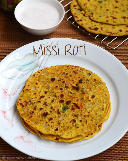 Quick Dinner Ideas Indian  Missi roti recipe