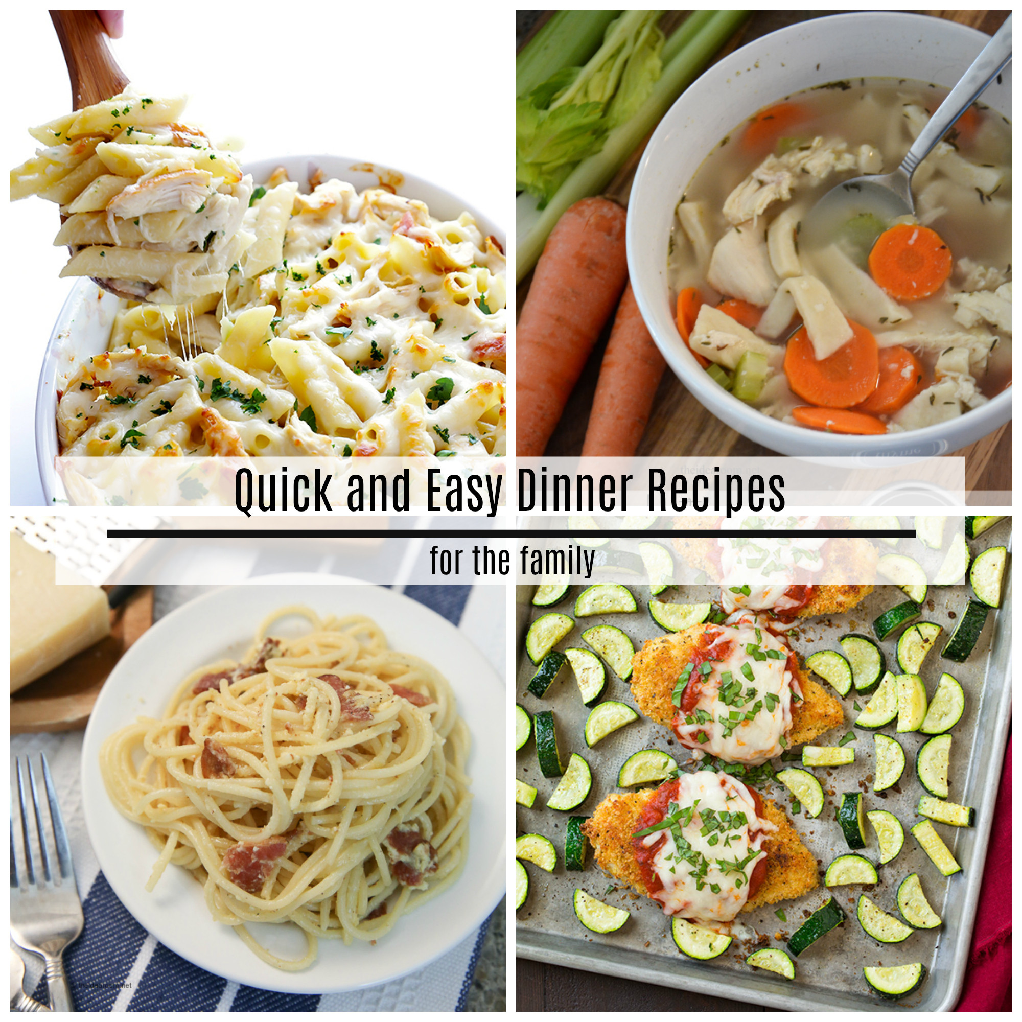 Quick Easy Dinner  Quick and Easy Dinner Recipes The Idea Room