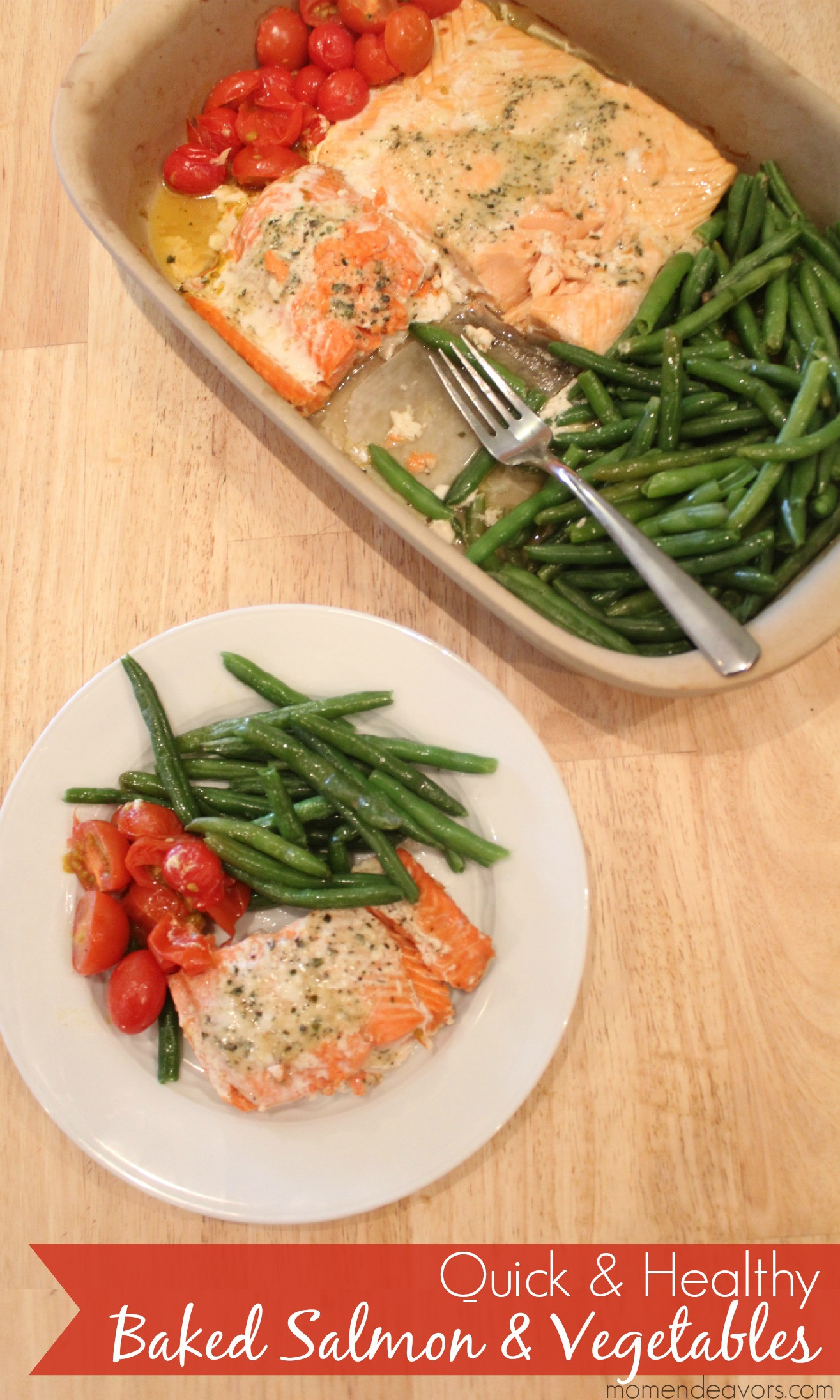 Quick Easy Healthy Dinner  Quick & Healthy Recipe e Pan Baked Salmon & Ve ables