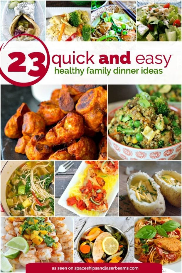 Quick Easy Healthy Dinner  23 Quick and Easy Healthy Family Dinner Ideas Spaceships