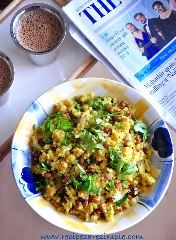 Quick Indian Breakfast Recipes  Kanda Poha