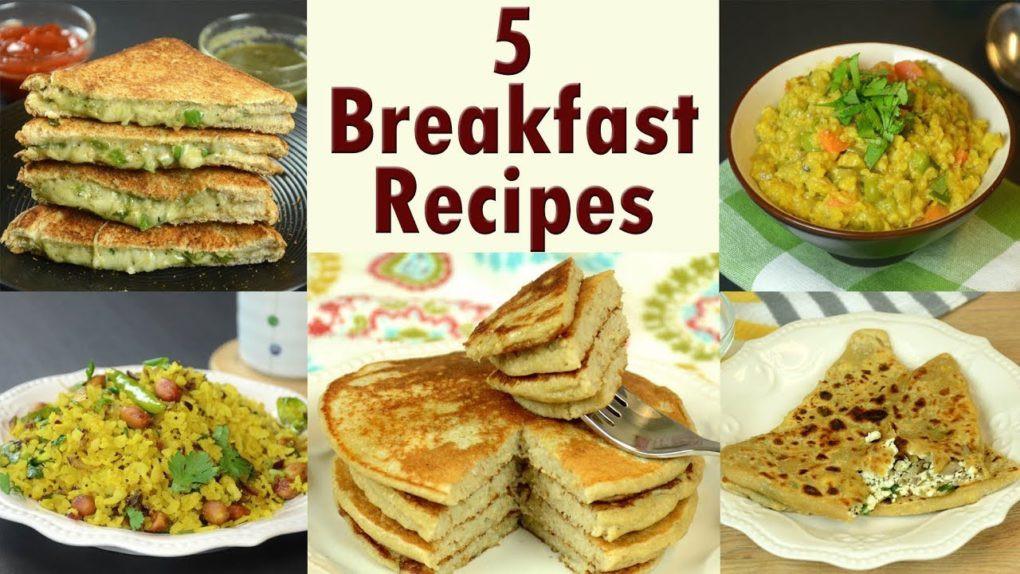 Quick Indian Breakfast Recipes  5 Breakfast Recipes – Part 2