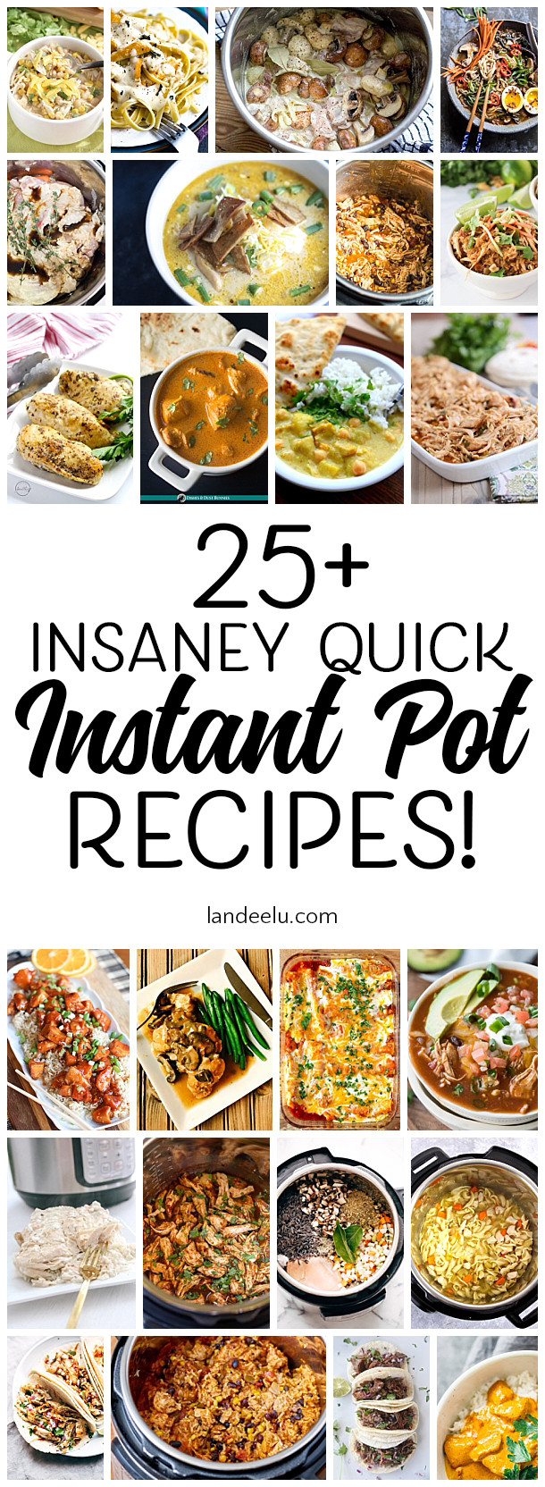 Quick Instant Pot Recipes  25 Insanely Quick Instant Pot Recipes landeelu