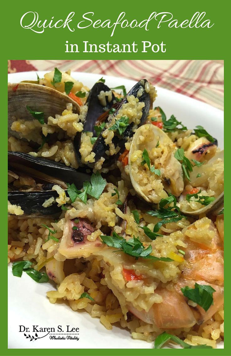 Quick Instant Pot Recipes  Check out Quick Seafood Paella Recipe from Hip Pressure