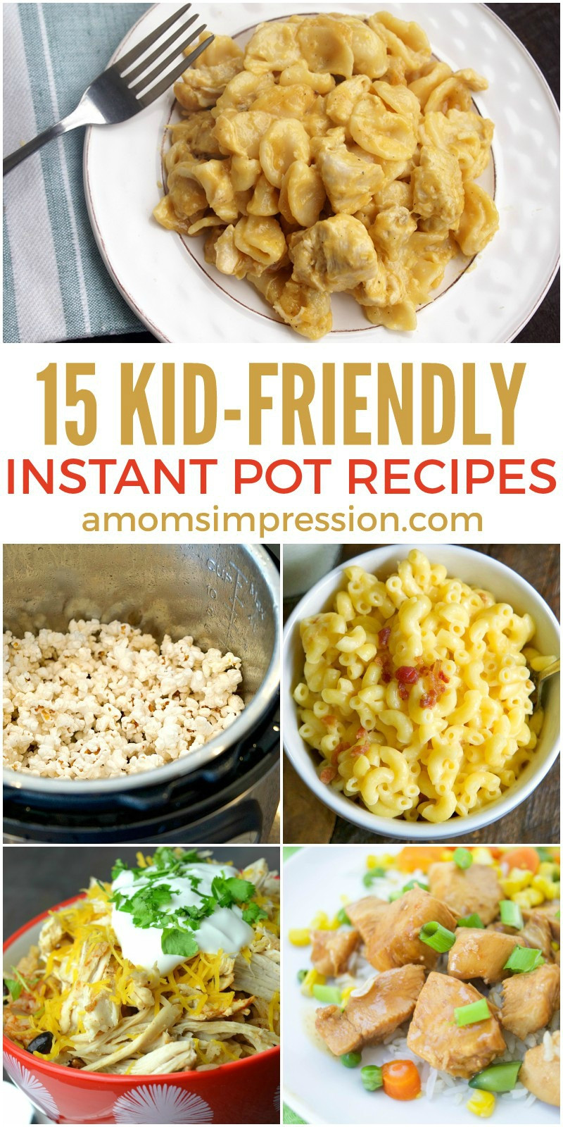 Quick Instant Pot Recipes  15 Quick and Easy Kid Friendly Instant Pot Recipes