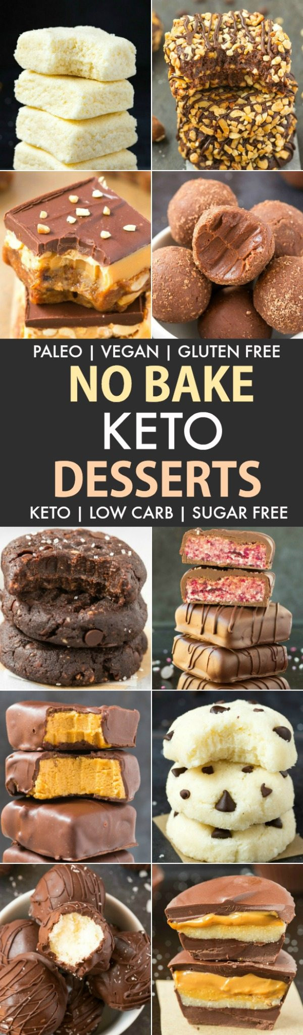 Quick Keto Desserts  Easy No Bake Low Carb Keto Desserts Paleo Vegan